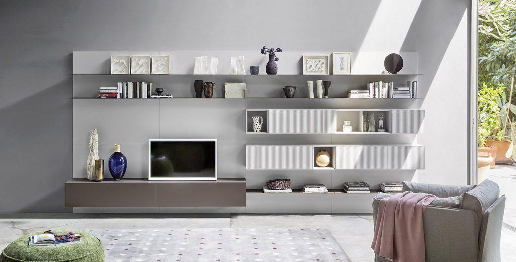Soggiorni Novamobili Torino - librerie - madie - Arredamenti Quaglio